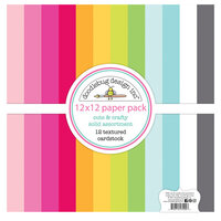 Doodlebug Design - Cute and Crafty Collection - 12 x 12 Textured Cardstock Assortment Pack