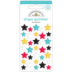 Doodlebug Design - Fun At The Park Collection - Sprinkles - Self Adhesive Enamel Shapes - Star Attraction