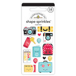 Doodlebug Design - Fun At The Park Collection - Sprinkles - Self Adhesive Enamel Shapes - Travel Time