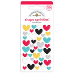Doodlebug Design - Fun At The Park Collection - Sprinkles - Self Adhesive Enamel Shapes - I Love This Place