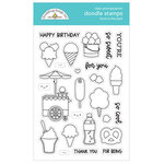 Doodlebug Design - Fun At The Park Collection - Clear Photopolymer Stamps - Food At The Park