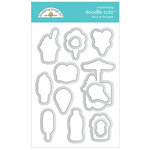 Doodlebug Design - Fun At The Park Collection - Doodle Cuts - Dies - Food At The Park