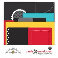 Doodlebug Design - Fun At The Park Collection - Cards and Envelopes
