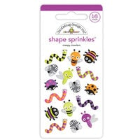 Doodlebug Design - Happy Haunting Collection - Sprinkles - Self Adhesive Enamel Shapes - Creepy Crawlers
