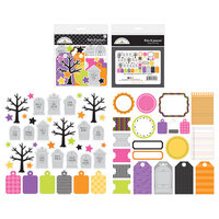 Doodlebug Design - Happy Haunting Collection - Bits and Pieces - Die Cut Cardstock Pieces