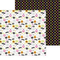 Doodlebug Design - Happy Haunting Collection - 12 x 12 Double Sided Paper - Happy Haunting