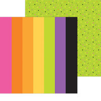 Doodlebug Design - Happy Haunting Collection - 12 x 12 Double Sided Paper - Spooky Spectrum