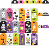 Doodlebug Design - Happy Haunting Collection - 12 x 12 Double Sided Paper - Spook-tag-ular