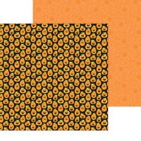 Doodlebug Design - Happy Haunting Collection - 12 x 12 Double Sided Paper - Hello Pumpkin
