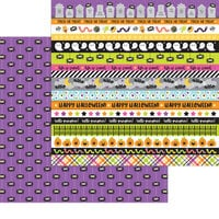 Doodlebug Design - Happy Haunting Collection - 12 x 12 Double Sided Paper - Along Came A Spider