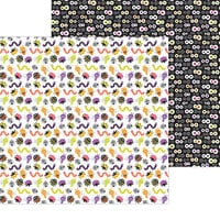 Doodlebug Design - Happy Haunting Collection - 12 x 12 Double Sided Paper - Bugs and Hisses