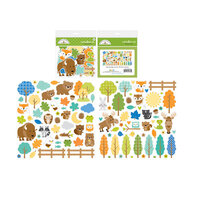 Doodlebug Design - Great Outdoors Collection - Odds and Ends - Die Cut Cardstock Pieces - Friendly Forest