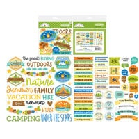 Doodlebug Design - Great Outdoors Collection - Chit Chat - Die Cut Cardstock Pieces - Great Outdoors