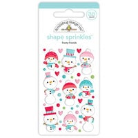 Doodlebug Design - Let It Snow Collection - Sprinkles - Self Adhesive Enamel Shapes - Frosty Friends Shape