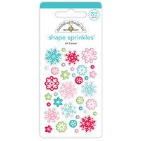 Doodlebug Design - Let It Snow Collection - Sprinkles - Self Adhesive Enamel Shapes - Let It Snow Shape