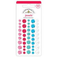 Doodlebug Design - Let It Snow Collection - Jewels - Adhesive Rhinestones - Christmas Assortment