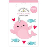 Doodlebug Design - Let It Snow Collection - Doodle-Pops - Whale Hello
