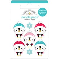 Doodlebug Design - Let It Snow Collection - Doodle-Pops - Playful Penguins