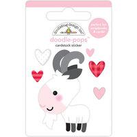 Doodlebug Design - Let It Snow Collection - Doodle-Pops - Baby Billy goat