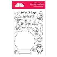 Doodlebug Design - Let It Snow Collection - Clear Photopolymer Stamps - Winter Wonderland