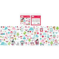 Doodlebug Design - Let It Snow Collection - Odds and Ends - Die Cut Cardstock Pieces - Let It Snow