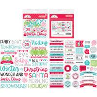 Doodlebug Design - Let It Snow Collection - Chit Chat - Die Cut Cardstock Pieces - Let It Snow