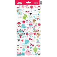 Doodlebug Design - Let It Snow Collection - Cardstock Stickers - Icons - Let it Snow