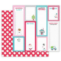 Doodlebug Design - Let It Snow Collection - 12 x 12 Double Sided Cardstock - Sweet Santa