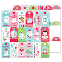Doodlebug Design - Let It Snow Collection - 12 x 12 Double Sided Cardstock - To and From