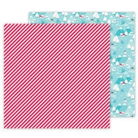 Doodlebug Design - Let It Snow Collection - 12 x 12 Double Sided Cardstock - Candy Cane Lane
