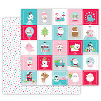 Doodlebug Design - Let It Snow Collection - 12 x 12 Double Sided Cardstock - Holiday Dots