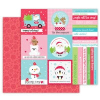 Doodlebug Design - Let It Snow Collection - 12 x 12 Double Sided Cardstock - Tis The Season