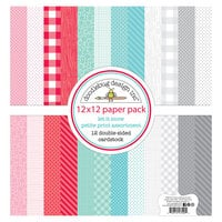 Doodlebug Design - Let It Snow Collection - 12 x 12 Paper Pack - Petite Prints