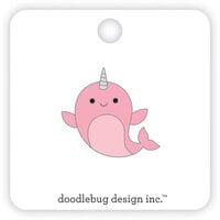 Doodlebug Design - Let It Snow Collection - Collectable Pins - Hello Narwhal