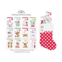 Doodlebug Design - Let It Snow Collection - Doodle-Pops Christmas Stocking