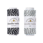 Doodlebug Design - Doodle Twine - Black and Gray - 2 Pack Set