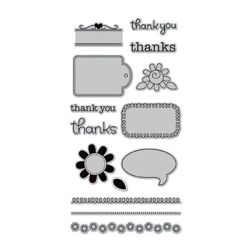 Doodlebug Design - Hampton Art - Unmounted Rubber Stamps - Thankful