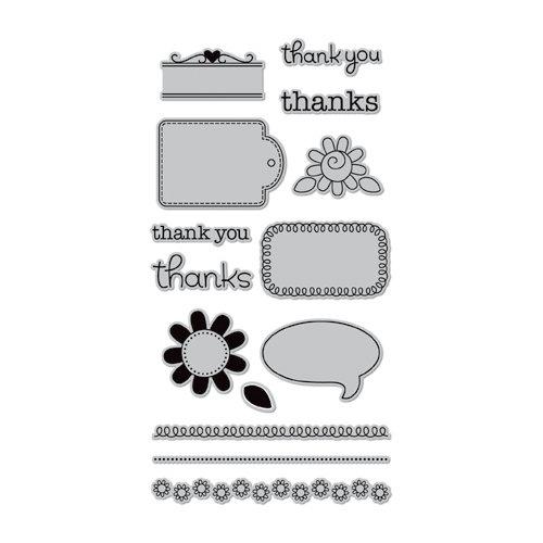 Doodlebug Design - Hampton Art - Unmounted Rubber Stamps - Thankful