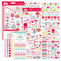 Doodlebug Design - Love Notes Collection - Embellishment Kit