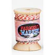 Daisy Bucket Designs - Shabby Green Door - Farmer's Market Collection - Cherry Twist Spool - Twine - 25 Yards