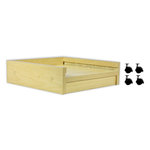 Display Dynamics - 12 x 12 Stacking Tray Rolling Base - Single Tower - Wood