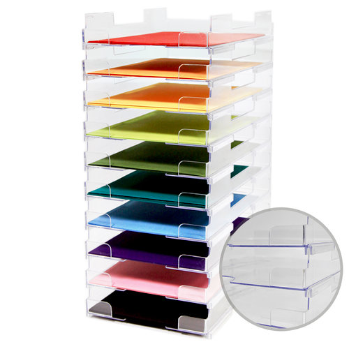 85 x 11 Stackable Paper Trays - Lipped - 10 Pack