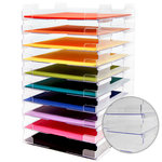 12 x 12 Stackable Paper Trays - Lipped - 10 Pack
