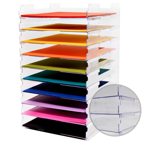 12 x 12 Stackable Paper Trays - No Lip - 10 Pack
