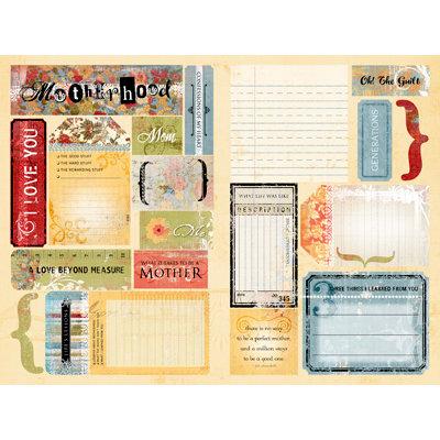 Daisy D's Paper Company - Cardstock Die Cuts - Motherhood Journal Tabs