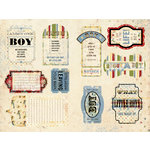 Daisy D's Paper Company - Cardstock Die Cuts - Boy Journal Tabs, CLEARANCE