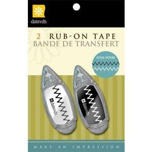 Daisy D's Paper Company - Rub On Tape - Zig Zag Stitch, BRAND NEW
