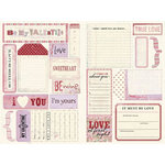 Daisy D's Paper Company - Valentine's Day Collection - Cardstock Die-Cuts - Valentine Journaling Tags, CLEARANCE