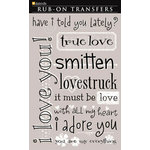 Daisy D's Paper Company - Valentine's Day Collection - Rub-On Transfers - True Love, CLEARANCE