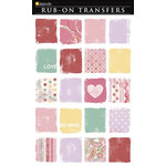 Daisy D's Paper Company - Valentine's Day Collection - Rub-On Transfers - Painted Squares, CLEARANCE